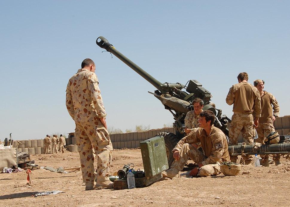 Australian gunners Afghanistan March 2009