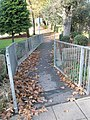 Autumn leaves on path connecting Havant Park with the railway station - geograph.org.uk - 1023188.jpg
