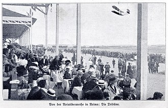 Reims - A month after Blériot's crossing of the English Channel in a biplane, the aviation week in Reims (August 1909) caught special attention.