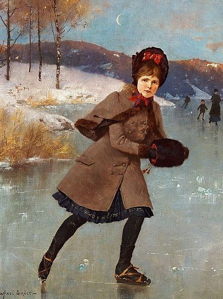 File:Axel Ender Young girl skating on a frozen lake, Norway.jpg