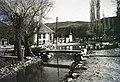 Börzsöny-patak a Hunyadi tér felől nézve, balra a Kossuth utca. Fortepan 95446.jpg
