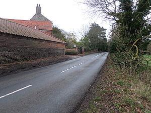 B1145 road - Image: B1145 Knapton, Swafield