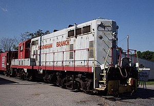 EMD GP7 - BBRR 1, a GP7, with the ODC special, Dillwyn, Virginia.