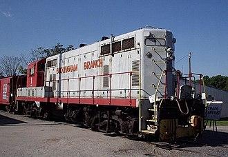 EMD GP7 - BBRR 1, a GP7, with the ODC special, Dillwyn, Virginia.