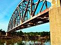 BNSF Railway bridge over Tennessee-Tombigbee Waterway, Amory, Mississippi.jpg