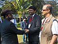 BNWIKI10-Discussions between Bengali Wikipedians-Wikipedia 10th Anniversary Celebration.jpg