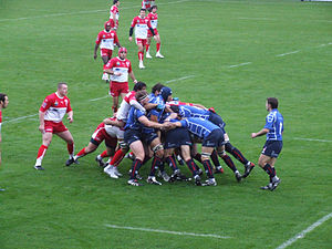 2006–07 Heineken Cup - Round 5 action – Border Reivers against Biarritz Olympique at Parc des Sports d'Aguilera in Biarritz, France.