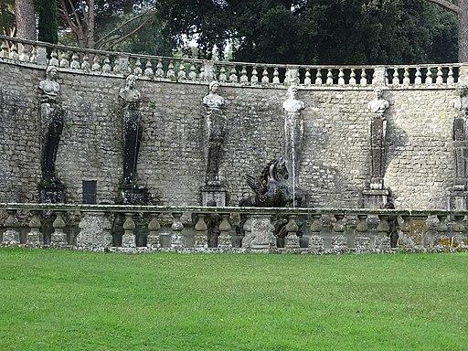 Fontana del Pegaso, muzen, Villa Lante in Bagnaia