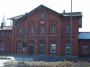 Bad Salzuflen - Empfangsgebäude des Bahnhofs Bad Salzuflen Entrance Hall of the Station