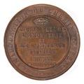 Baksida av bronsmedalj med text - Skoklosters slott - 99235.tif