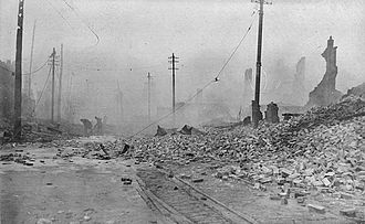 The Great Baltimore Fire of 1904, looking west from Pratt and Gay streets Baltimore Fire 1904 - West from Pratt and Gay Streets 3a.jpg