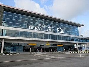 Depati Amir Airport - Image: Bandar Udara Depati Amir Baru