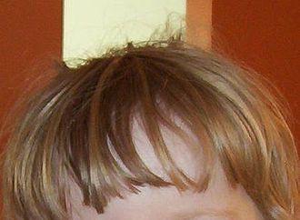 Bangs (hair) - An example of bangs