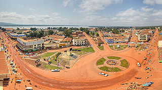 Capital and largest city of Central African Republic