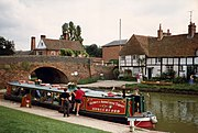 Barge on the Kennet and Avon Canal at Hungerford