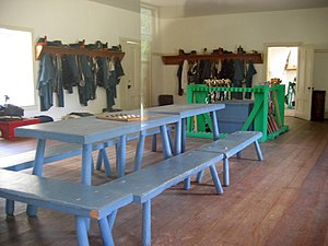 Fort Tejon - Image: Barracks Interior 1