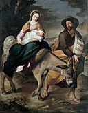 Bartolomé Esteban Murillo - The Flight into Egypt - Google Art Project.jpg