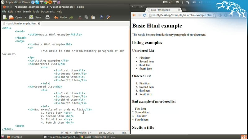 Web Science/Part1: Foundations of the web/Web content/HTML for web