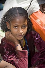 A girl in Bati market located in the Oromia Zone of the Amhara Region.
