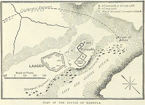 Battle of Kambula - A British map of the battle