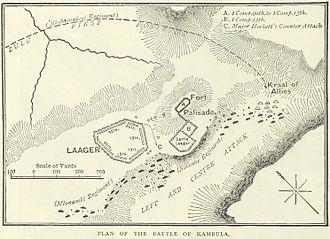 Battle of Kambula - A British map of the battle