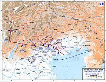 Italian Front World War I Wikipedia - 1917 1918 us in europe battles map