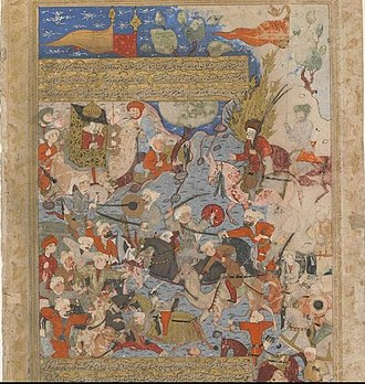 Women in Islam - A fifteenth-century Persian miniature depiciting the Battle of the Camel, a decisive encounter between the troops of the fourth caliph 'Alī, and an opposing army rallied by Muḥammad's wife, Āʿisha. In the aftermath of Alī's victory, Āʿisha withdrew from politics. Traditionalists have used this episode to argue that women should not play an active political role, while modernists have held up Āʿisha's legacy in arguing for gender equity in the Islamic tradition.