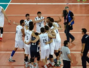 Argentina men's national volleyball team - Argentina team in 2014 against USA