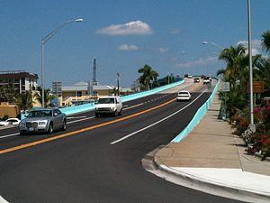 Matanzas Pass Bridge - Image: Beach Side of Matanzas Pass Bridge