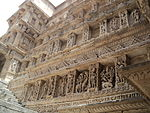Beautiful Stone Carving , Side walls of Step well.JPG