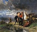 Beaux-Arts de Carcassonne - Combat de Romains et de Gaulois - Evariste-Vital Luminais.jpg