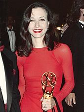 Neuwirth at the Governor's Ball after winning the back-to-back Emmy Award for Outstanding Supporting Actress in a Comedy Series at The 43rd Annual Primetime Emmy Awards, August 25, 1991