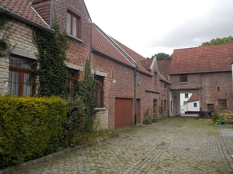 Inside view of the former beguinage of Kraainem, Belgium.