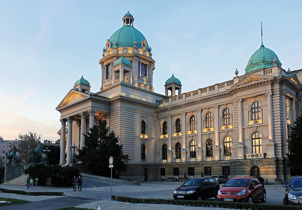 Belgrade. National Assembly of Serbia building