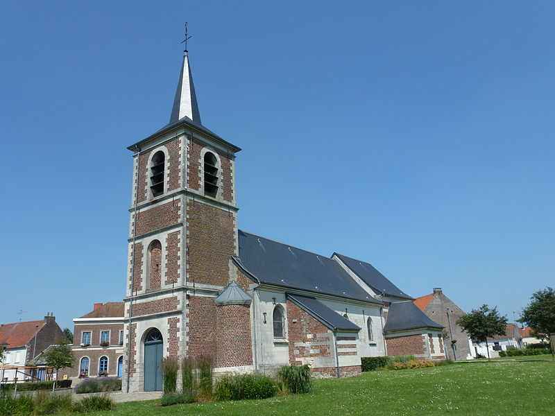 Bellaing (Nord, Fr) église