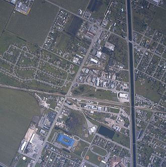 Effects of Hurricane Wilma in Florida - An aerial view of Belle Glade after Wilma