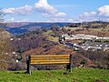 Bench overlooking Aberbeeg - geograph.org.uk - 1218438.jpg
