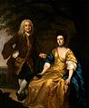Benjamin Hoadly and his wife. Oil painting by Francis Hayman Wellcome V0017911.jpg