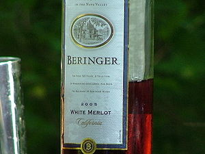 Beringer California White Merlot wine