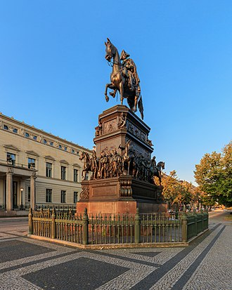 Equestrian statue of Frederick the Great - Equestrian statue of Frederick the Great, Unter den Linden