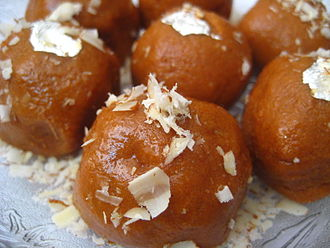 Muscovado - Besan laddu, Indian sweets prepared with khand