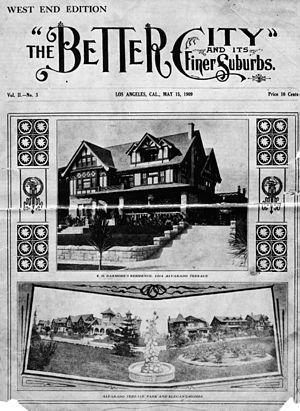 Alvarado Terrace Historic District - Magazine feature on Alvarado Terrace, 1909