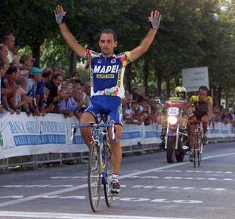 Mapei (cycling team) - Image: Bettini Placci 2001