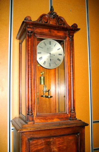 Beverly Clock - The Beverly Clock as it now stands in the Physics Department at the University of Otago