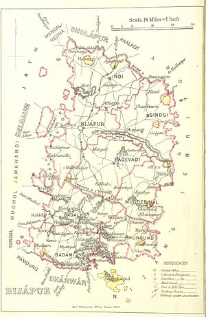 Bijapur district, Karnataka - Bijapur district 1896