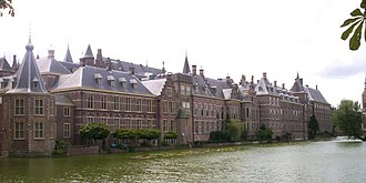 The Hague Center - The medieval Binnenhof, meeting place of the Dutch houses of parliament, around which the city of The Hague originated.