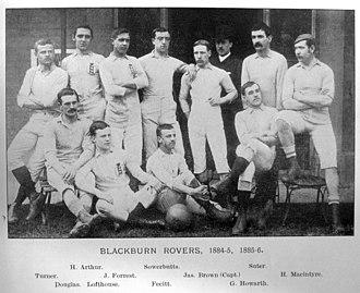 1885 FA Cup Final - Blackburn Rovers, winning side