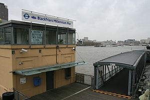 Blackfriars Millennium Pier - Image: Blackfriars Pier 2