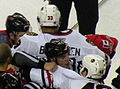 Blackhawks-Flames scrum BYFUGLIEN (cropped).JPG