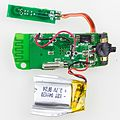 Bluetooth headset WEP-200 - printed circuit board with battery-9690.jpg